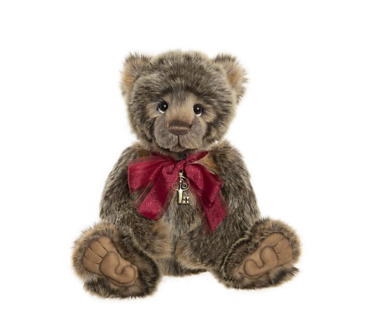 "Charlie Bears Secret Collection Clinton 15"" Plush Bear"
