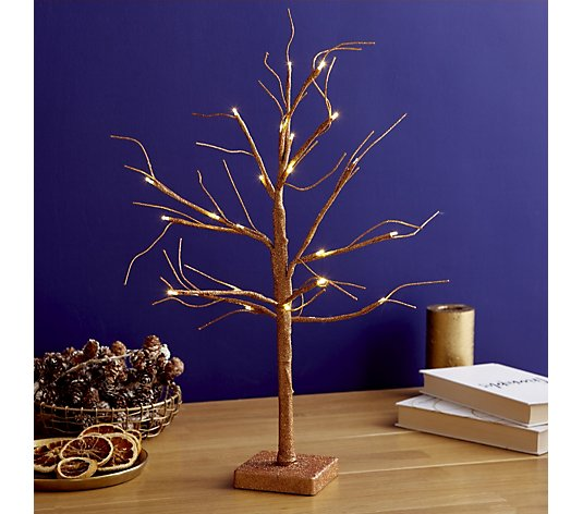 Alison Cork Indoor Pre-Lit Glitter Branch Tree with Timer Function