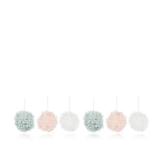 Home Reflections Set of 6 Flower Baubles