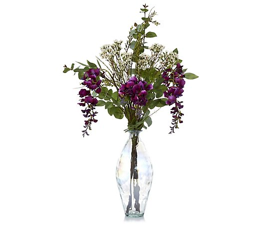 Peony Wild Flower In Bottle Vase