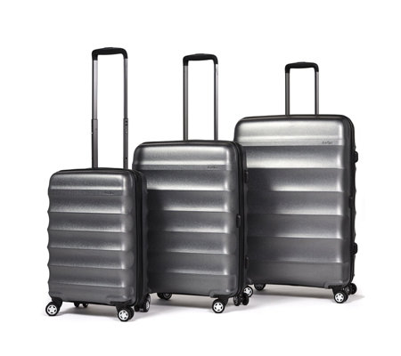Antler Juno Metallic Set of 3 Suitcases Large, Medium & Cabin Case