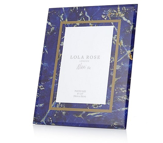 Lola Rose Stone Print Photo Frame