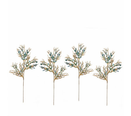 Alison Cork Set of 4 Peacock Stems