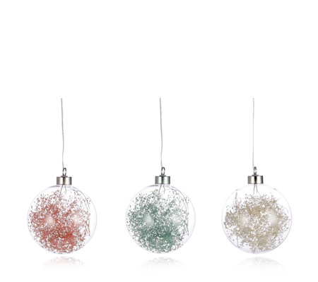 Home Reflections Set of 3 Hanging Spheres