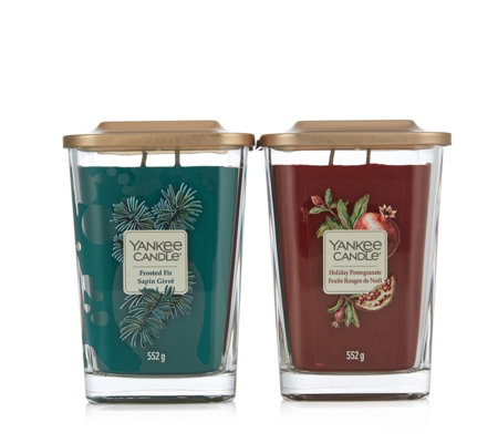 Yankee Candle Set of 2 Elevate Large Jars