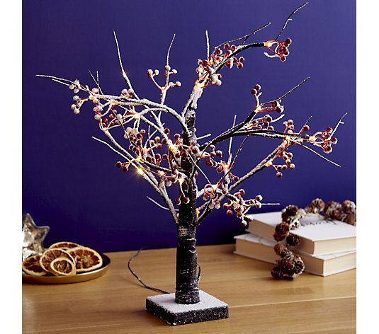 Festive Pre-Lit Berry Dusted Branch Tree