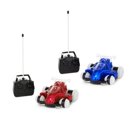 Set of 2 Sidewinder Remote Control Stunt Cars with Lights