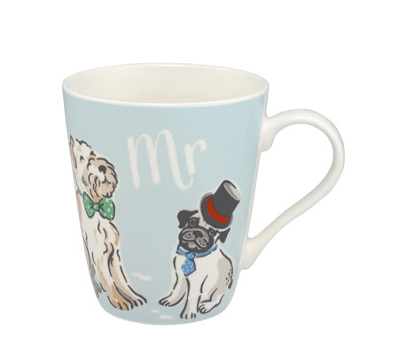 Cath Kidston Mr & Mrs Set of Two Stanley Mugs