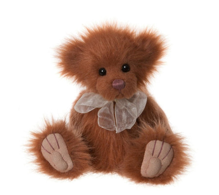 "Charlie Bears Collectable Butterscotch 8"" Plush Bear"