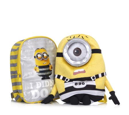 Despicable Me 3 Backpack Jail Minion Stuart Plush Backpack Qvc Uk