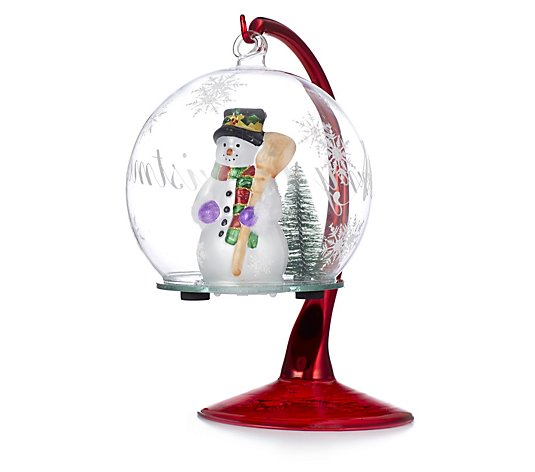 Santa Express Scenic Hanging Glass Bauble Display