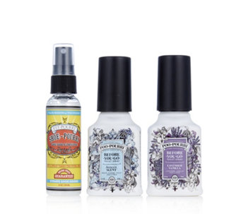 Poo Pourri 3 Piece Shoe & Poo Pourri Combo 2 oz Bottles - 707223