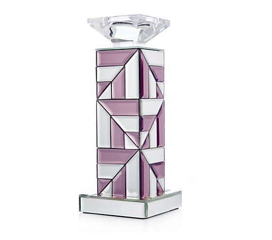 JM by Julien Macdonald Two Toned Paved Mirrored Candle Holder