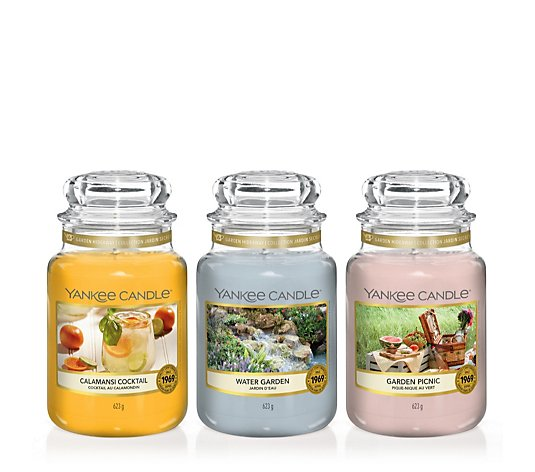 Yankee Candle Set of 3 Garden Hideaway Large Jars