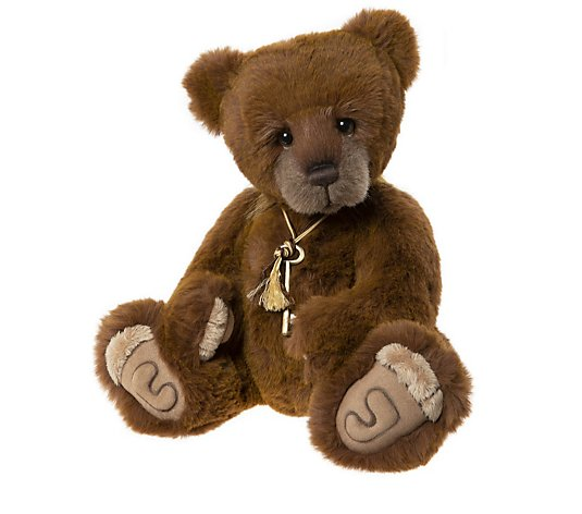 "Charlie Bears Secret Collection Dimples 16"" Plush Bear"