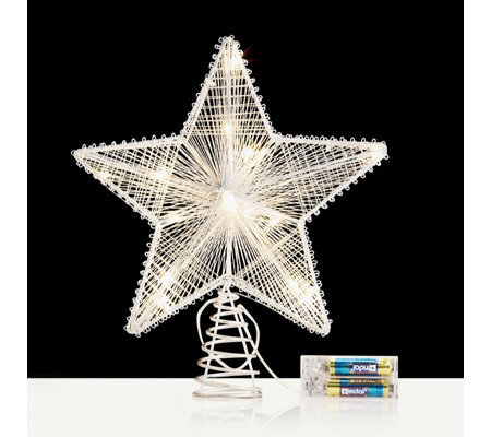 Home Reflections 25cm LED Silver Star Tree Topper