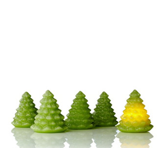 Set of 5 Flameless LED Christmas Tree Candles - 700530