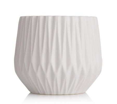 K By Kelly Hoppen Diamond Ribbed Vase Qvc Uk