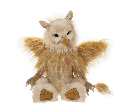 "Charlie Bears Collectable Griff the Griffin 22"" Plush Bear"