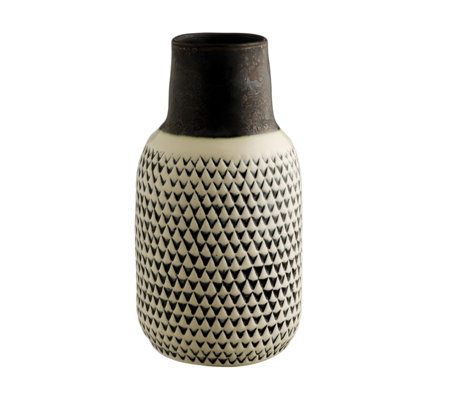 Habitat Trina Black & White Patterned Ceramic Vase