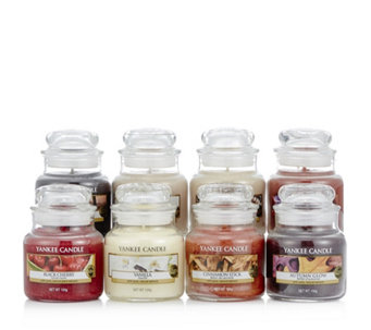 Yankee Candle Set Of 8 Autumn Leaves Small Jars 709136