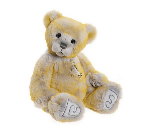 "Charlie Bears Collectable Honeybunch 16"" Plush Bear"