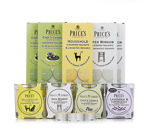 Price's Candles 54 Piece Odour Eliminator Set
