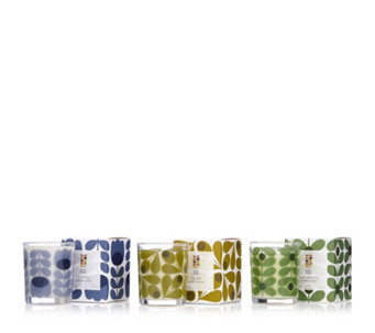 Orla Kiely Set of 3 Travel Candles - 706843