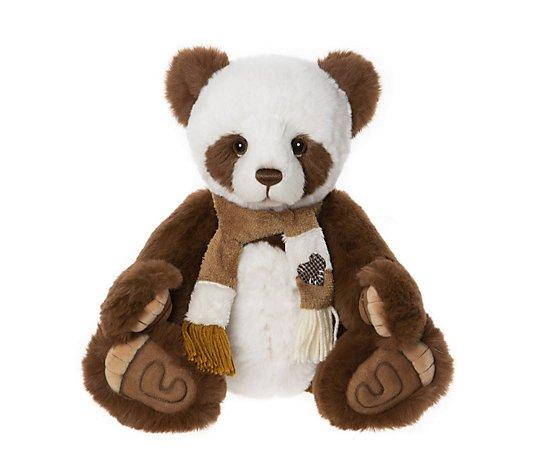 "Charlie Bears Collectable Albie the Panda 15"" Plush Bear"