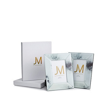 JM by Julien Macdonald Set of 2 Glass Photo Frames in Gift Boxes - 707445