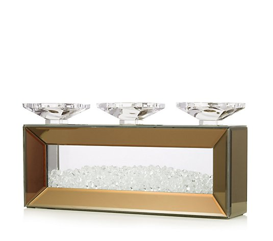 JM by Julien Macdonald Mirror & Encapsulated Crystal Platform Candle Holder