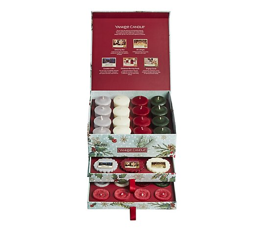 Yankee Candle Limited Edition 40 Piece Festive Wax Assortment In Tiered Box