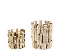 Home Reflections Set of 2 Twig Candle Holders - 708950
