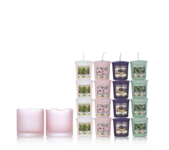 Yankee Candle Pink Tranquillity Holders with 20 Votives - 706752
