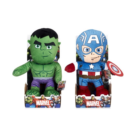 "Marvel Set of 2 10"" Plush Characters"