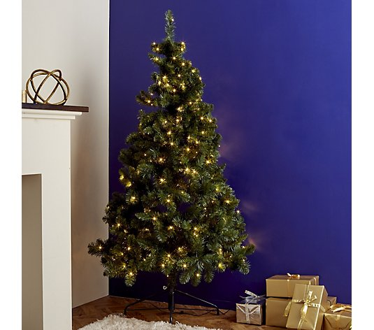 Home Reflections Space Saving Prelit Half Christmas Tree