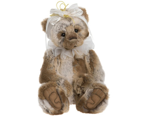 "Charlie Bears Collectable Nyah 13"" Plush Bear"