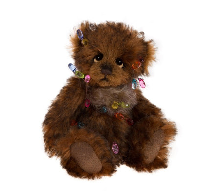 "Charlie Bears Collectable Dec the Halls 7"" Minimo Mohair Bear"