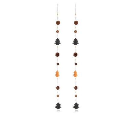 Home Reflections Set of 2 Plush and Pinecone Garland