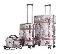 Triforce Versailles Floral Luggage Set w/Large, Cabin & Vanity - 708661