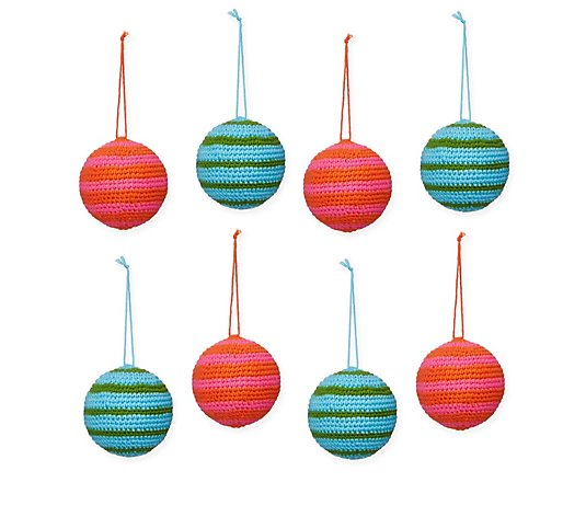 Home Reflections Set of 8 Crochet Baubles