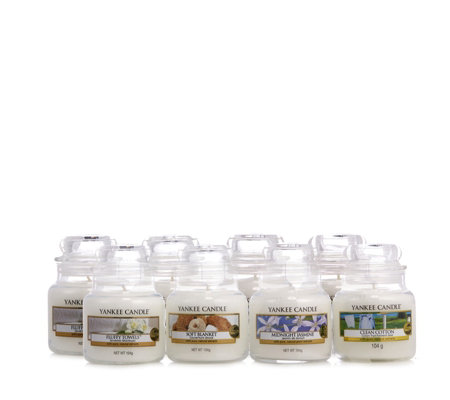 Yankee Candle Set of 8 White Collection Small Jars