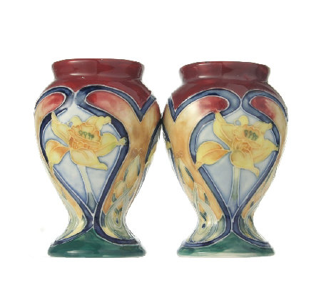 Old Tupton Ware Pair Of Small Daffodil Vases Qvc Uk