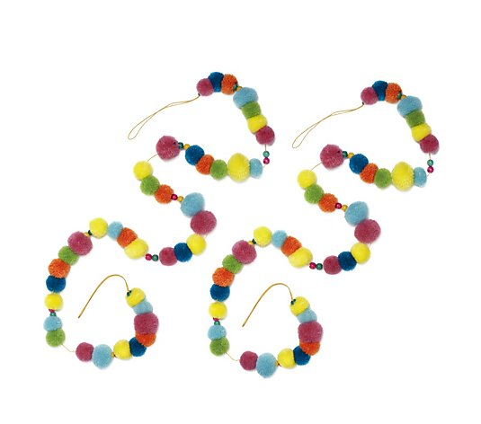 Home Reflections Set of 2 Pom Pom Garlands