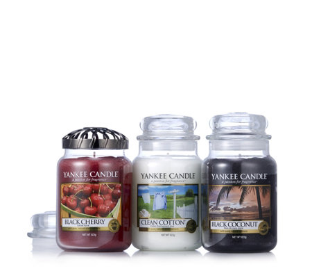 Yankee Candle Set of 3 Large Jars with Illuma Lid