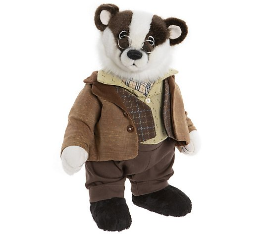 "Charlie Bears Limited Edition Wind in the Willows Badger 13.5"" Plush Bear"