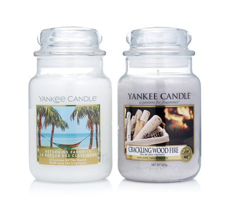 Yankee Candle Set of 2 Winter Hard To Find Large Jars