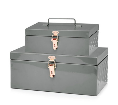 BundleBerry by Amanda Holden Set of 2 Small & Large Storage Boxes