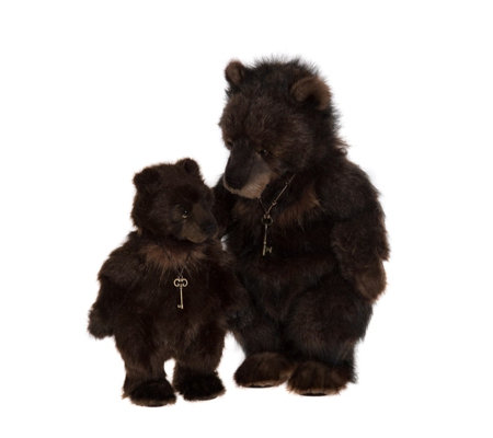 "Charlie Bears Collectable Grizelle & Grace 22""& 15.5"" Plush Bears"