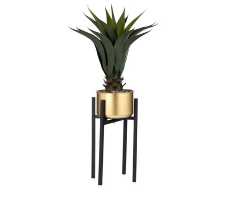 Edited by Erica Davies Faux Plant with Black Fold Out Stand